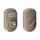 SCHLAGE PLYMOUTH STYLE KEYPAD DEADBOLT ANTIQUE PEWTER ( click here to view and buy item )