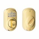 SCHLAGE PLYMOUTH STYLE KEYPAD DEADBOLT BRIGHT BRASS ( click here to view and buy item )