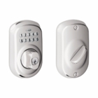 SCHLAGE PLYMOUTH STYLE KEYPAD DEADBOLT BRIGHT CHROME ( click here to view and buy item )