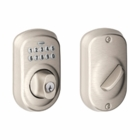 SCHLAGE PLYMOUTH STYLE KEYPAD DEADBOLT SATIN NICKEL ( click here to view and buy item )