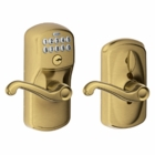 Schlage Plymouth Style Keypad Flair Lever with Flex Lock Antique Brass ( click here to view and buy item )