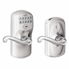 Schlage Plymouth Style Keypad Flair Lever with Flex Lock Bright Chrome ( click here to view and buy item )