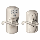 Schlage Plymouth Style Keypad Flair Lever with Flex Lock Satin Nickel ( click here to view and buy item )