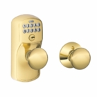 Schlage Plymouth Style Keypad Plymouth Knob with Auto Lock Bright Brass ( click here to view and buy item )