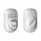 SCHLAGE STYLE PLYMOUTH KEYPAD DEADBOLT SATIN CHROME ( click here to view and buy item )