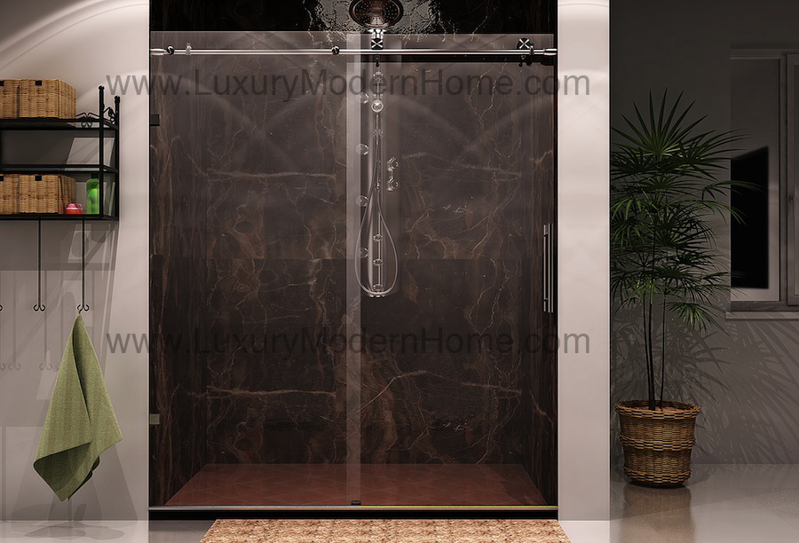 Shower Frameless Enclosures COLOGNE Sliding Glass Shower Door