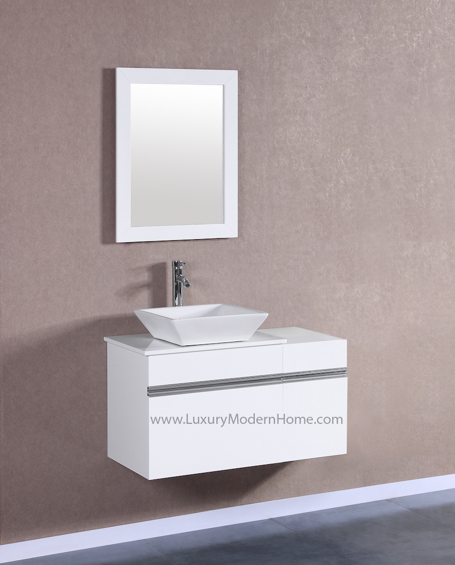 MARCUS 24 Small White Vanity Sink