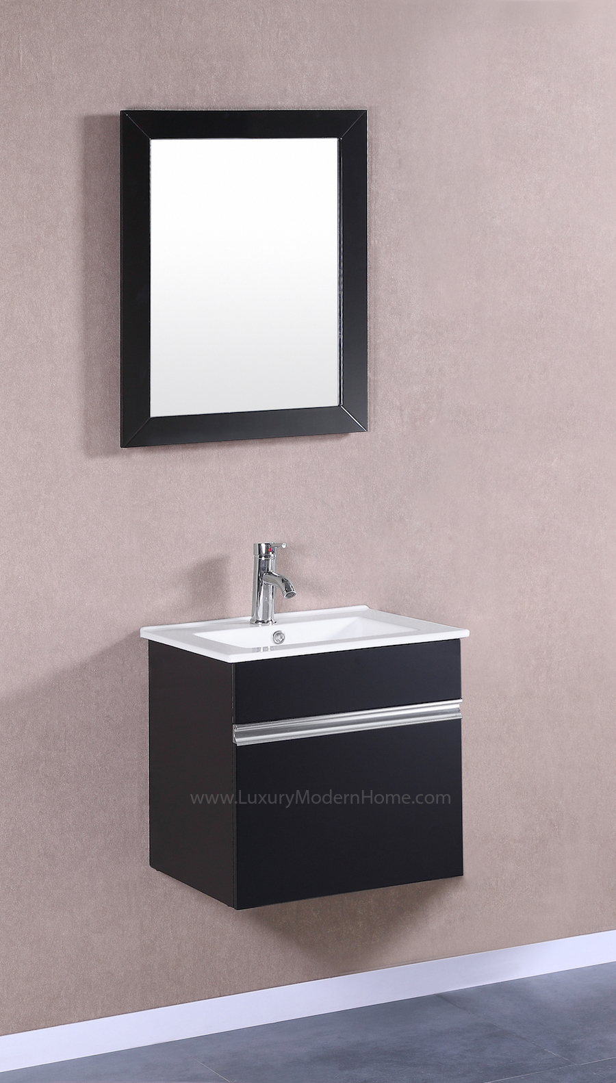 PETRONIUS 20 Small Black Vanity Sink