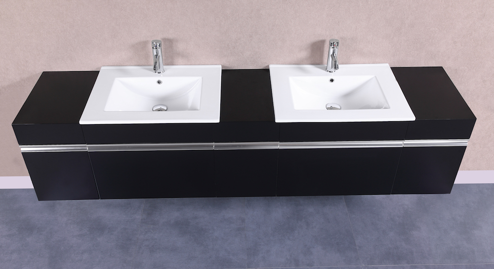 PETRONIUS 24 Small Black Vanity Sink