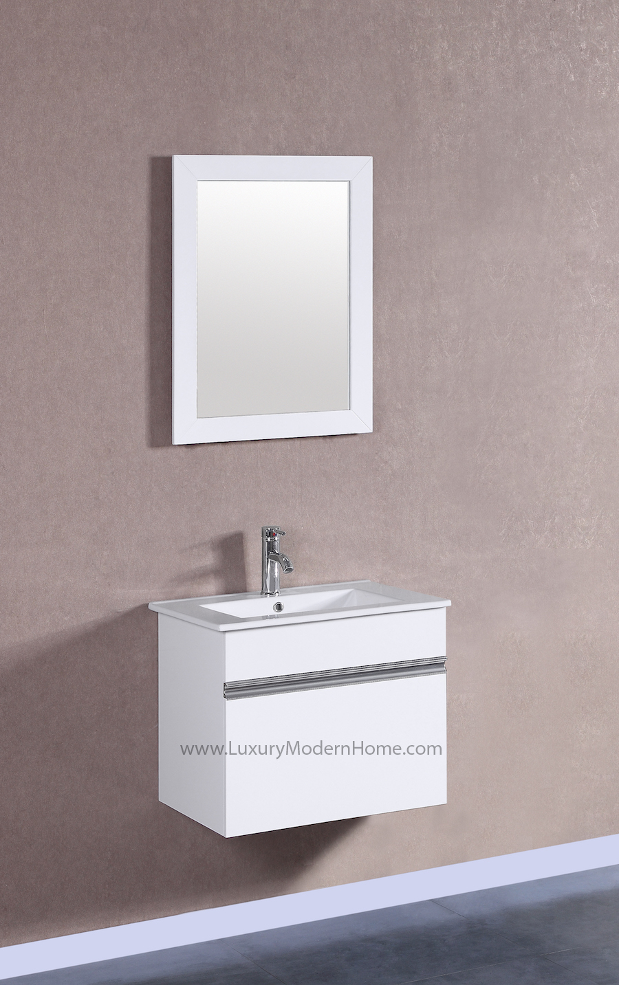 PETRONIUS 24 Small White Vanity Sink