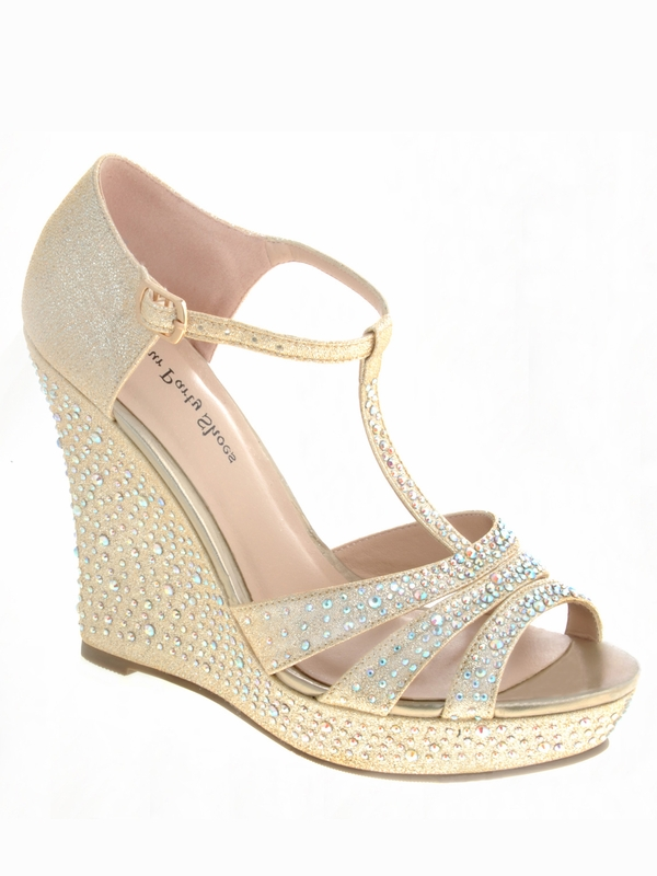 your shoes 704 strappy silver prom wedges