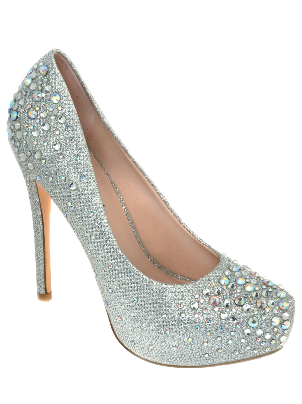 Silver Heels For Quinceanera