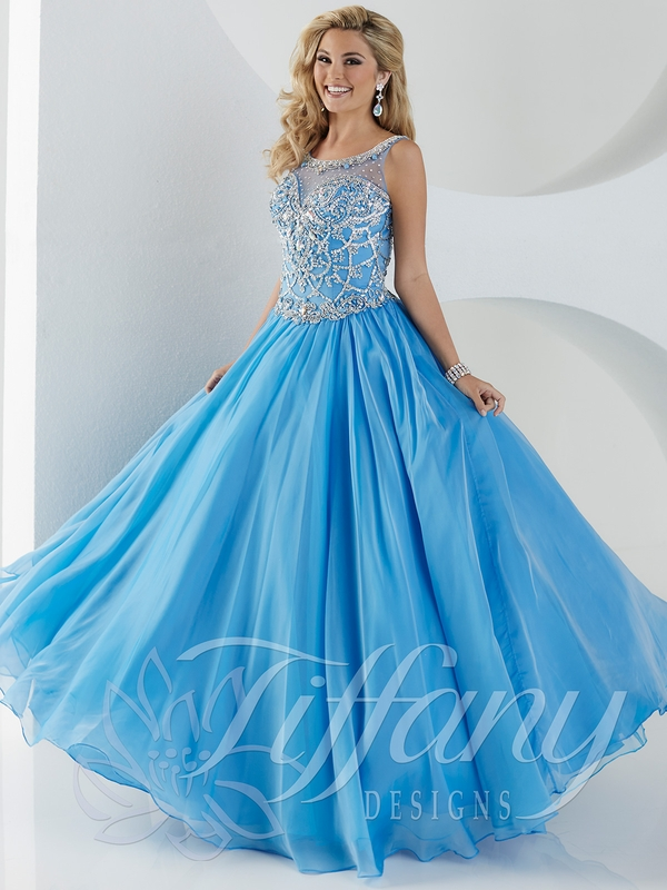 16776a0aa6b High Neck Beaded Ball Gown With Ruffles Tiffany Princess Pageant Dress  13433. Tiffany Ation Ballgowns