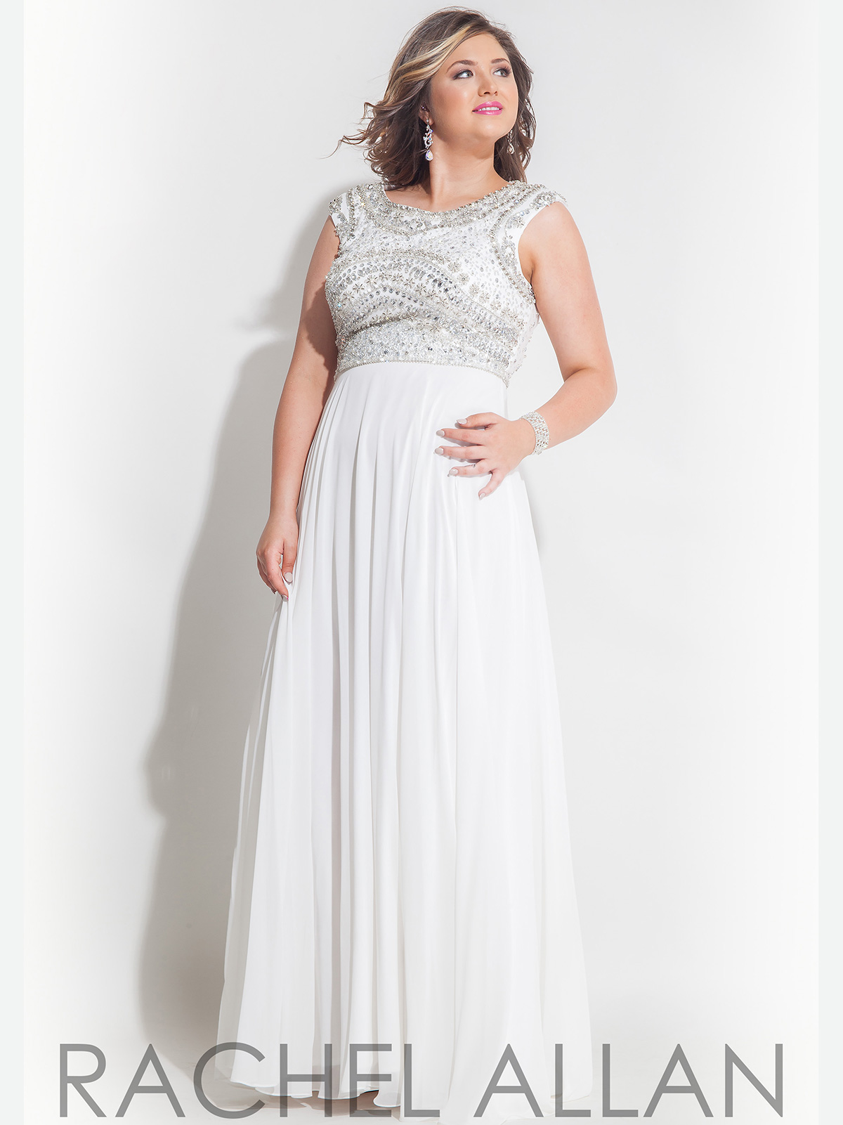 plus size prom dresses with cap sleeves