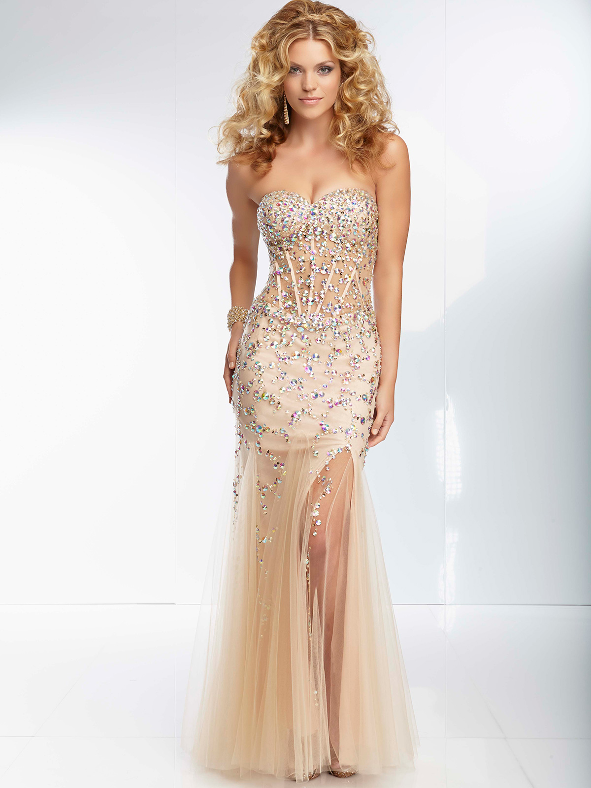 Sheer Prom Dresses - Holiday Dresses