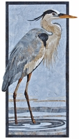 Great Blue Heron Kit (Precut kit available only at www.keepsakequilting.com)