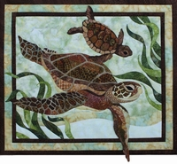 "Sea Turtles Pattern17 3/4"" x 20 1/2"""