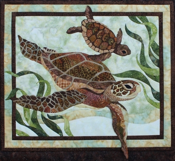 "Sea Turtles 17 3/4"" x 20 1/2"""
