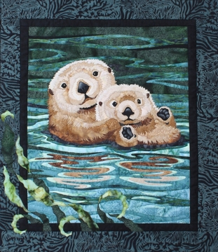 "Sea Otter Pattern 20 1/2"" x 23 3/4"""