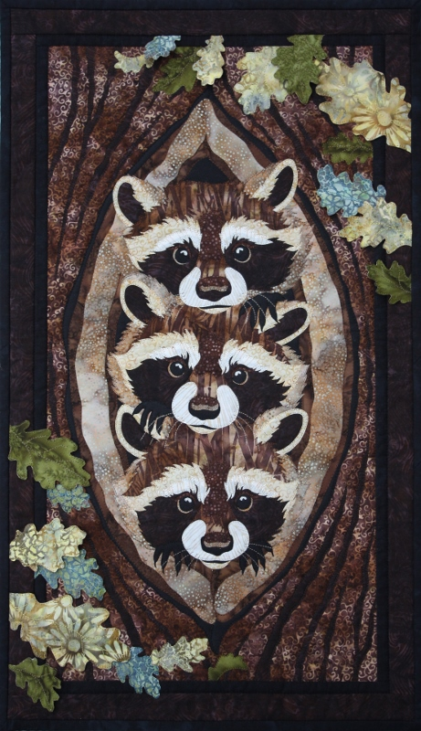 toni whitneys realistic wildlife raw edge fusible applique art quilt