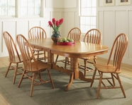 A America BRICI633B-T-42-60-2-207C-12LF BTTFLY-TBL-Chair Dining Set