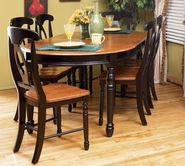 A America BRIHE6310-B-285K ISLES-42X52-W-2-12-OVAL-LEG-TABLE-Chair Dining Set