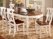 A America BRIMB6310-285K British Isles Oval Leg Table-Chair Dining Set