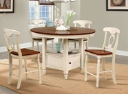 A America BRIMB6510-385K British Isles Round Gathering Table-Chair Set