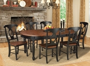A America BRIOB6310-285K British Isles Oval Leg Table-Chair Dining Set