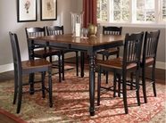 "A America BRIOB6720-367KBritish Isles 54""x36"" Counter Height Table-Bar-Stool Set"