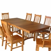 A America BRKNC630B-T-265K-BROOKHURST-42X60-TRSL-TABLE-Chair Dining Set