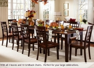 A America BTLOE617L-263K BRISTOL-38-X1323-LF-EXT-TABLE-BRISTOL-POINT-GRIDBACK-CHAIR Dining Set
