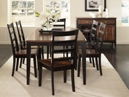 A America BTLOE6320-255K Bristol Point Butterfly Leg Table Chair Dining Set