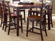A America BTLOE6750-355K BRISTOL-18-BFLY-GATTBL-BRSTL  Gathering Height Table-Bar stool Set