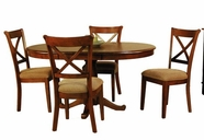 A America DESSI615B-T-2470K DESOTO PEDESTAL TABLE-Chair Dining Set