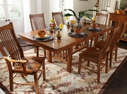 A America LAUOA632T-B-275K LAURELHURST TRESTLE TABLE Chair Dining Set
