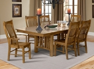A America LAURO632B-T-275K LAURELHURST TRESTLE-TABLE-Chair Dining Set