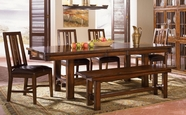 A America MESAM635B-T-265K MESA RUSTICA TRESTLE-TABLE-Chair Dining Set