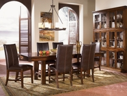 A America MESAM635B-T-269K MESA RUSTICA TRESTLE-TABLE-Chair Dining Set