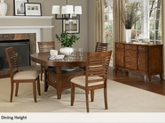 A America ONTBC6450-50-255K OVAL-CONVERTIBLE-HTTABLE-Chair Dining Set