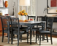 A America SYDAB6070-215K RECTGRANITE-TABLE-Chair Dining Set