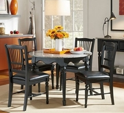 A America SYDAB6300-215K 42-ROUND-GRANITE-TABLE-Chair Dining Set