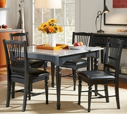 A America SYDAB6350-215K 44X44-SQUARE-GRANITE-TABLE-Chair Dining Set