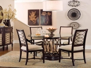 A.R.T. 161224-2636Bs-Tp-06 Intrigue Glass-Top-Dining-Table-Chair 5Pc Dining Set