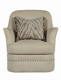 A.R.T. 204516-5008AA Cotswold Ivory Swivel Chair