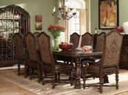 A.R.T. 209221-2304Bs-Tp-209202-03-2304 Valencia Trestle Dining Table 7Pc Dining Set