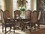 A.R.T. 209225-2304BS-TP-209202-03-2304 Valencia Round Dining Table 7Pc Set