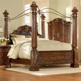 A.R.T. Furniture 142156-2606HB-FB-RS-CN Regal King Poster Bed