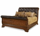 A.R.T. Furniture 143146-2606FB-HB-143147-2606rs Old World California King Leather Sleigh Bed