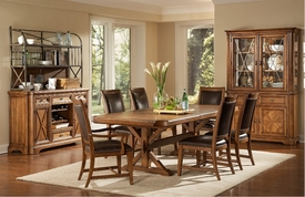 A.R.T. Furniture 177221-1503BS-TP-4X200 Copper Ridge Trestle Dining Table SET